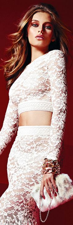 Lovely in white lace.