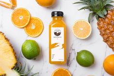 [Palette] Cold Pressed Juice on Behance Juice Logo, Juice Branding, Juice Packaging, Bottle Packaging, Citrus Juice, Fruit Juice, Kombucha Bottles, Juice Bottles, Food Photography Tips