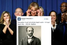 The U.S. Department of Education apologized Sunday for a tweet that misspelled the name of W.E.B. Du Bois while quoting the late writer, historian and civil rights activist.