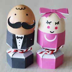 FREE printable: Smart Easter eggs - Eleganckie pisanki-ludziki