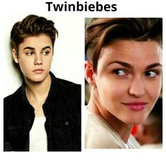 Justin Bieber + Ruby Rose (orange is the new black)...resemblance is uncanny
