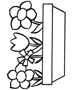 simple flower coloring page  cute flower  full size
