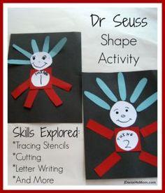 Dr Seuss Shape Craft
