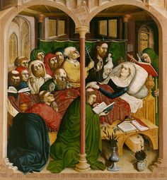 Hans Multscher - The Death of Mary. 1437