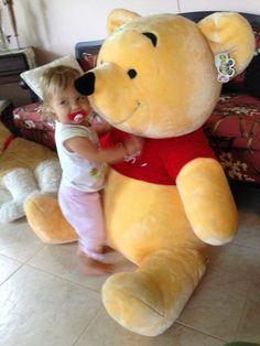 "Disney Park Giant 42"" Winnie The Pooh Plush 106.68 Cm Stuffed Jumbo Animal  Used as store display only!"