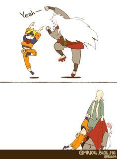 Naruto, Jiraiya, and Tsunade