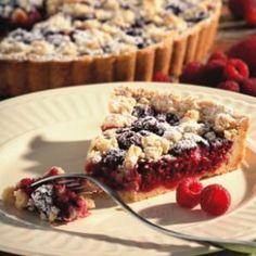 Raspberry Almond Crumb Tart from @EatingWell #spring