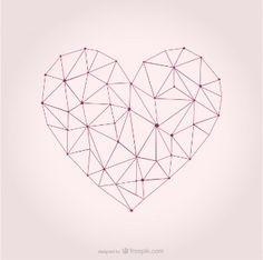 imagenes de corazones geometricos - Buscar con Google