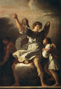 FETTI, Domenico [Italian Baroque Era Painter, The Guardian Angel Protecting a Child from the Empire of the Demon Oil on canvas, 292 x 188 cm Musée du Louvre, Paris Catholic Art, Religious Art, Catholic Beliefs, Religious Paintings, Painting Gallery, Art Gallery, Archangel Jophiel, Religion Catolica, Your Guardian Angel