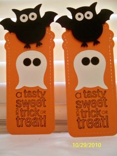 Stampin' Up!  Owl Punch   Halloween Bat and Ghost