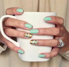 Light green nails #nails #beautyinthebag