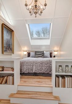 awesome awesome Two-tier attic master bedroom in Scandinavian design with light wood flo... by http://www.best100homedecorpics.us/attic-bedrooms/awesome-two-tier-attic-master-bedroom-in-scandinavian-design-with-light-wood-flo/