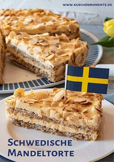 Schwedische Mandeltorte The popular cake classic from Sweden. Uncomplicated and incredibly tasty! Beef Pies, Mince Pies, Red Wine Gravy, Baked Shrimp Recipes, Flaky Pastry, Breakfast Buffet, Almond Cakes, Bakery, Food And Drink