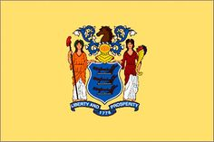 In during the Revolutionary war, General George Washington directed that the regiments of the New Jersey Continental Line have a flag of dark blue and buff. Jersey Girl, New Jersey, Merle Pitbull, Xl Pitbull, Us States Flags, Us Flags, Newark City, Delaware Bay, Poster