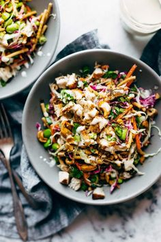 Cashew Crunch Salad with Sesame Dressing - this is the healthy summer recipe tha. - Cashew Crunch Salad with Sesame Dressing – this is the healthy summer recipe that makes me ACTUAL - Healthy Summer Recipes, Healthy Salad Recipes, Vegan Recipes, Summer Salad Recipes, Diabetic Recipes, Dinner Salad Recipes, Healthy Quick Meals, Cabbage Salad Recipes, Side Salad Recipes