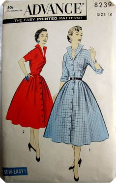 Vintage 1950s Advance 8239 Misses Dress by Denisecraft on Etsy, $19.99