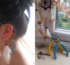 DIY feathered ear cuff !