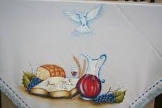 qual o tecido mais indicado para pintar toalha de igreja - Pesquisa Google