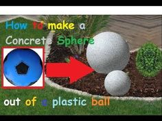 How to make a Concrete Garden Sphere out of a Plastic Ball / DIY Garden Decor Ideas - Tutorial