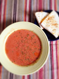 """After attending a chilly morning football game, we were ready for a warm soup lunch. I found a recipe in my Trim Healthy Mama book called """"Just Like Campbell's Tomato Soup"""", and I thought we'd ..."""
