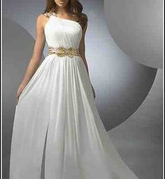 One Shoulder Grecian Prom Dresses