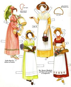 Pride and Prejudice by Jane Austen. My sister and I had these paper dolls. They were so amazing and beautiful!