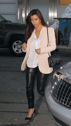 Making leather pants look sophisticated