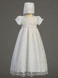 Girls Christening Gown w/Beadwork
