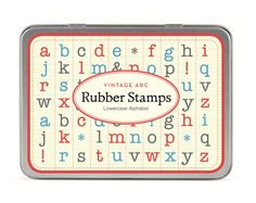 Rubber Stamps I Alphabet & Number Sets I TwoHandsPaperie.com