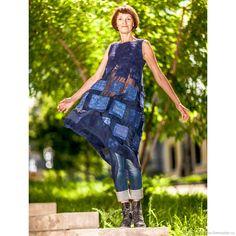 Валяное Платье / Туника Море Вокруг – купить в интернет-магазине на Ярмарке Мастеров с доставкой - FVE93RU | Самара