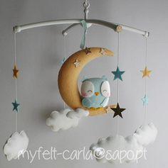 Baby Mobile Moon Mobile Baby Crib Mobile Owl Mobile Cot Mobile