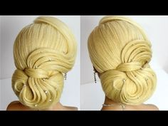 Bridal wedding updo. Hairstyles for long hair tutorial - YouTube