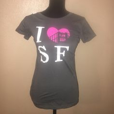 I love San Francisco! ❤️gray pink. Proclaim your love of San Fran with this adorable like new t shirt.  Tag states large but definitely a small. 100 percent cotton. Tops Tees - Short Sleeve