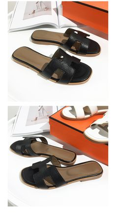 8ad5592d3d23 Summer Luxury Designer Black Or White H Ladies Sandals – ebuytrends