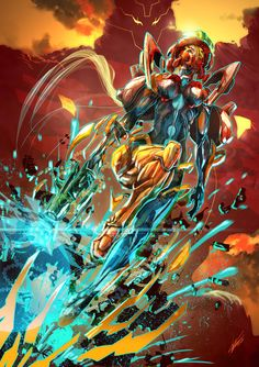 Metroid / Her name is Samus Aran by ~tommasorenieri on deviantART