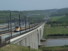 A Eurostar train on the bridge at Rochester over the Medway [shared]