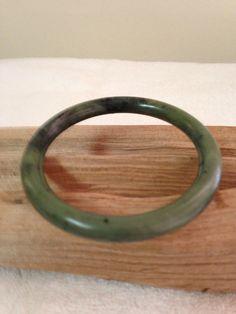 Treasury Vintage Jade Bangle Bracelet by TreasuresFromUs on Etsy