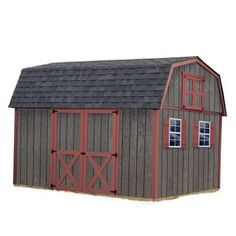 Best Barns Meadowbrook 10 ft. x 12 ft. Wood Storage Shed Kit-meadowbrook_1012 - The Home Depot