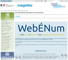#WebEnum : les webinaires #EcoleNumerique de @acrennes pour tous  le vendredi 24 mars Webinaire Partager avec #Cartoun
