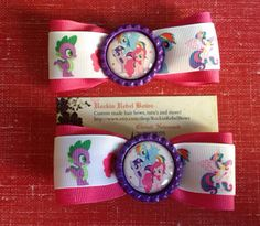 My little pony hair bows