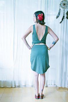 Open Back Wrap Dress Fairy Dress Womens Backless Dress by #Picarona #opanbackdress