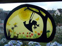Waldorf Transparentbild Frühling von Puppenprofi auf DaWanda.com