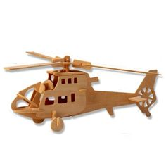 3-D Wooden Puzzle - Chopper Helicopter Model -Affordable Gift for your Little One