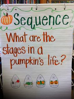 Mrs. Lowes' Kindergarten Korner: Pumpkin Life Cycle Sequence