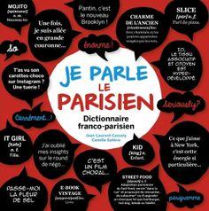"""""""Je parle le parisien,"""" dictionnaire franco-parisien. Fun guide to Parisian argot."""