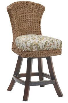 Padma's Plantation Bahama Breeze Swivel Counter Stool The sophisticated Bahama Breeze Collection by Padma's Plantation mixes simplicity and elegance. Its lines are clean and simple with with just a hint of movement. The flat all over weave provides textural interest to the room and the dining chair combines beauty and romantic feminine curves with comfort. The pieces are stylish yet functional, for a family room. Materials: Abaca-Breeze weave and Hardwood