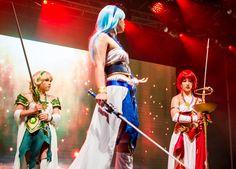 Hikaru Shidou cosplay Magic Knight Rayearth stage performance awesome