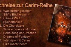 Heute geht es um die wunderbare Welt von #Carim.    #LenaKnodt #Buchreise #Drachen Cover, Books, Viajes, Dragons, Libros, Book, Book Illustrations, Libri