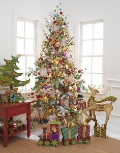 Christmas Tree ~ Whimsy Reindeer, Elves, Train and Tree