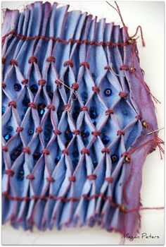 naturally dyed silk with indigo and brazilwood